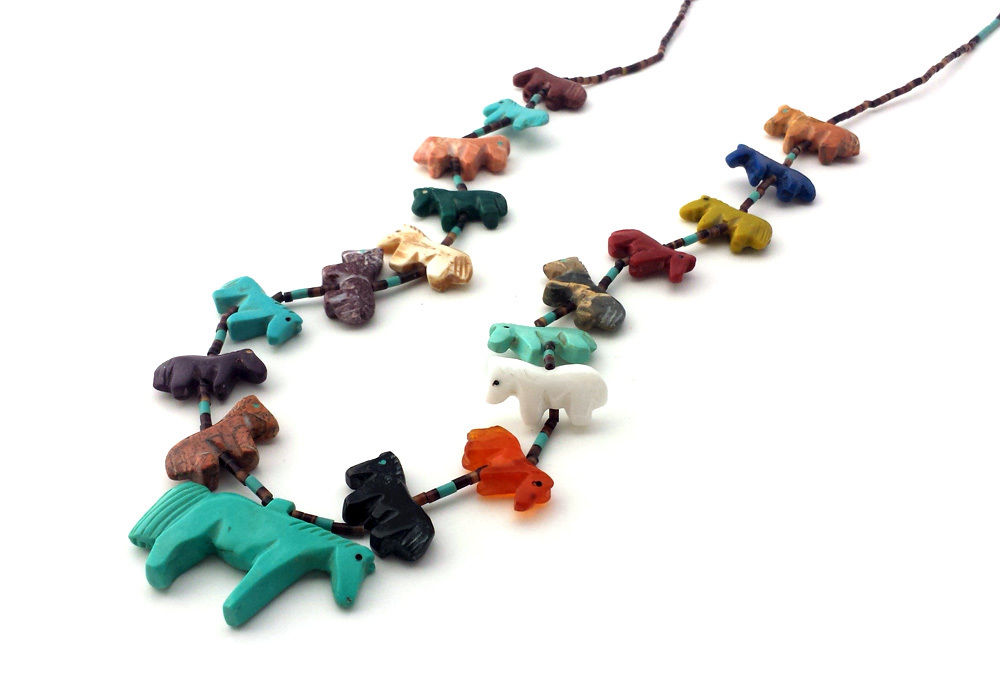 Single Strand Horse Fetish Necklace