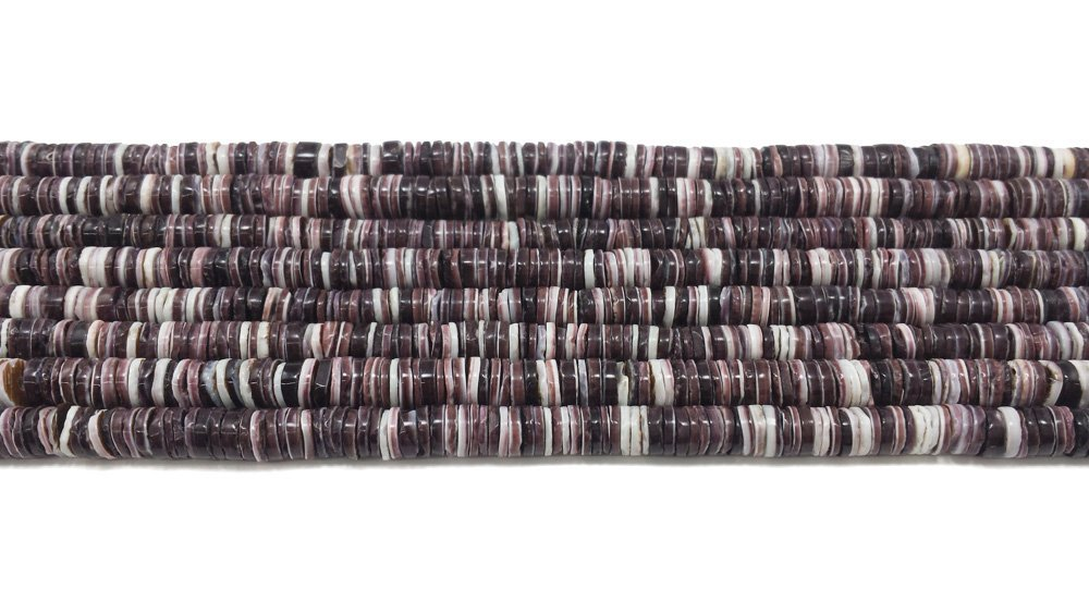 4 - 5 Violet Oyster Heishi Beads