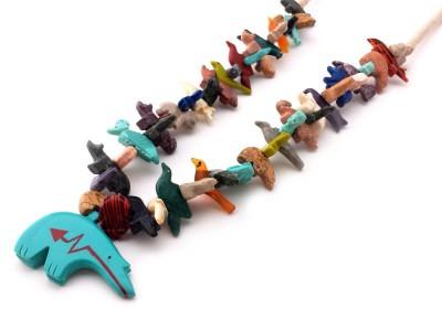 Zuni Bear Southwestern Necklace